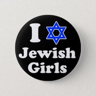 I Love Jewish Girls 6 Cm Round Badge