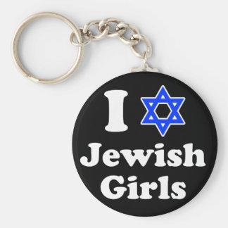 I Love Jewish Girls Key Ring