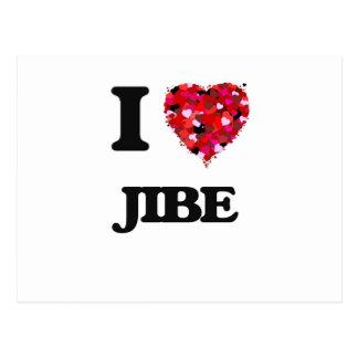 I Love Jibe Postcard