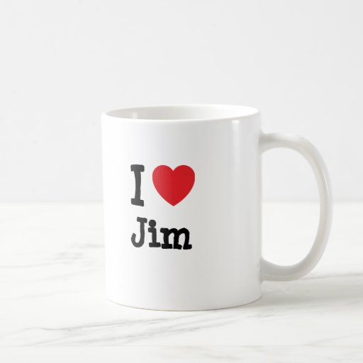 I love Jim heart custom personalized Coffee Mug