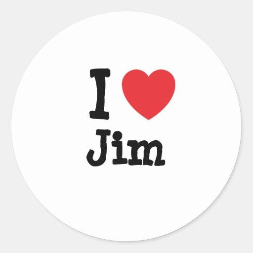 I love Jim heart custom personalized Stickers