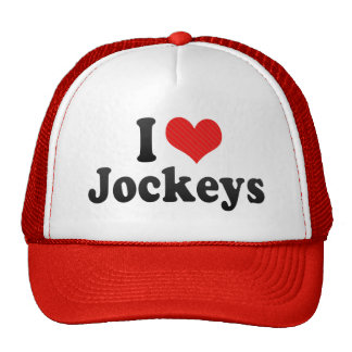 I Love Jockeys Mesh Hat