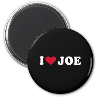 I LOVE JOE 6 CM ROUND MAGNET