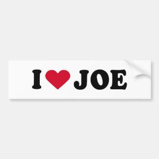 I LOVE JOE BUMPER STICKERS
