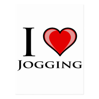 I Love Jogging Postcard