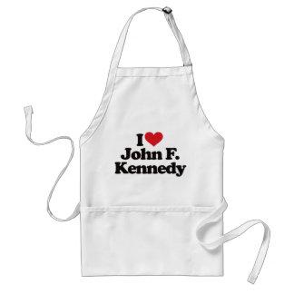 I Love John F Kennedy Apron