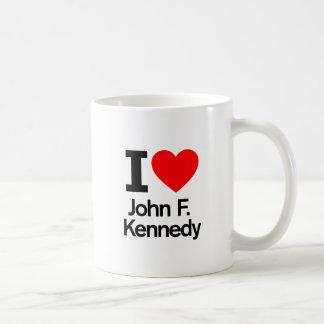 I Love John F. Kennedy Basic White Mug