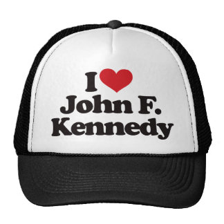 I Love John F Kennedy Hat