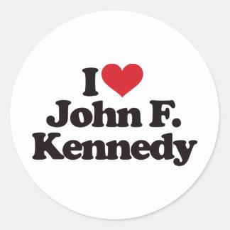 I Love John F Kennedy Stickers