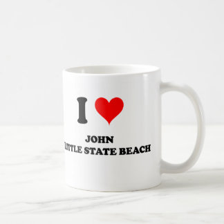 I Love John Little State Beach California Mugs