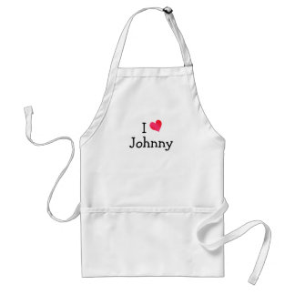 I Love Johnny Standard Apron