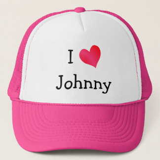 I Love Johnny Trucker Hat
