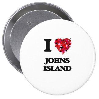 I love Johns Island Washington 10 Cm Round Badge
