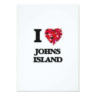I love Johns Island Washington 13 Cm X 18 Cm Invitation Card