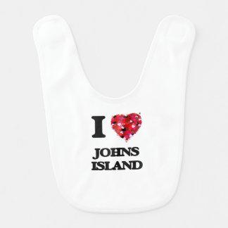 I love Johns Island Washington Baby Bib