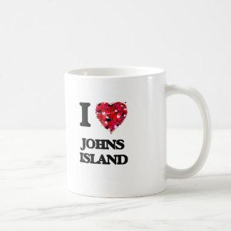 I love Johns Island Washington Basic White Mug