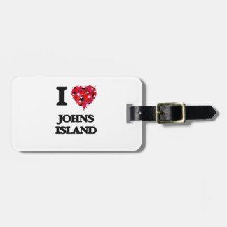 I love Johns Island Washington Luggage Tags