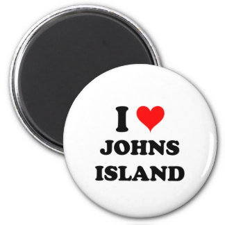 I Love Johns Island Washington Fridge Magnet