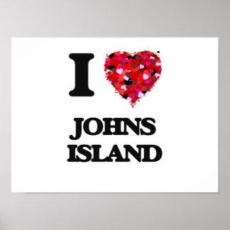 I love Johns Island Washington Poster