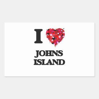 I love Johns Island Washington Rectangular Sticker