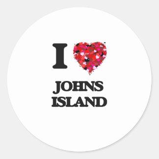 I love Johns Island Washington Round Sticker
