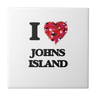 I love Johns Island Washington Small Square Tile