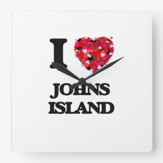 I love Johns Island Washington Wall Clock