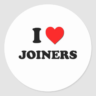 I Love Joiners Round Stickers