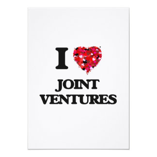 I Love Joint Ventures 13 Cm X 18 Cm Invitation Card