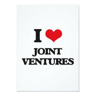 "I Love Joint Ventures 5"" X 7"" Invitation Card"