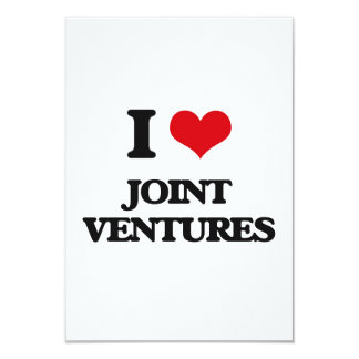 "I Love Joint Ventures 3.5"" X 5"" Invitation Card"