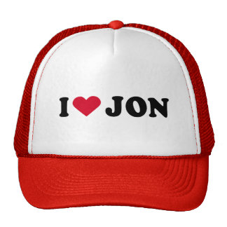 I LOVE JON MESH HAT