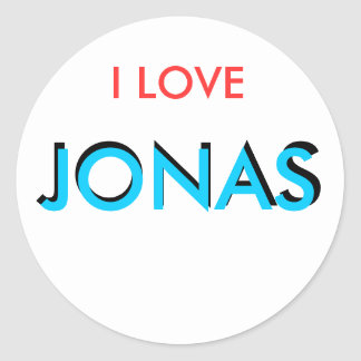 I love Jonas Classic Round Sticker