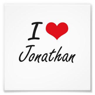 I Love Jonathan Photographic Print