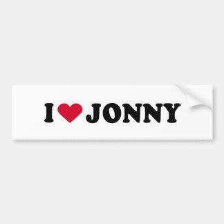 I LOVE JONNY BUMPER STICKERS