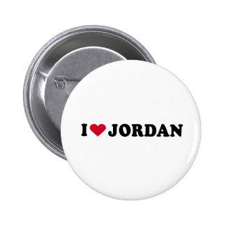 I LOVE JORDAN PINBACK BUTTONS