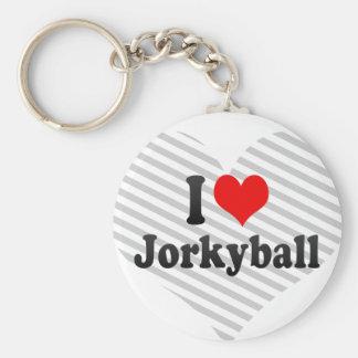 I love Jorkyball Basic Round Button Key Ring