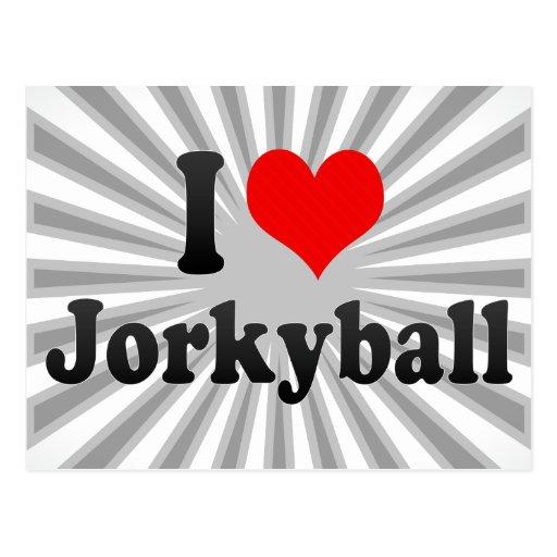 I love Jorkyball Postcard