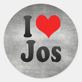I Love Jos, Nigeria Classic Round Sticker