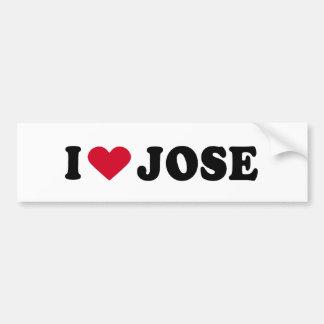 I LOVE JOSE BUMPER STICKER