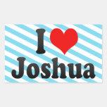 I love Joshua Rectangle Sticker