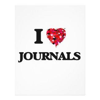 I Love Journals 21.5 Cm X 28 Cm Flyer