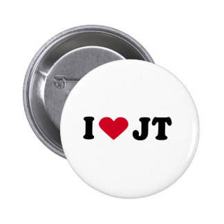I LOVE JT 6 CM ROUND BADGE