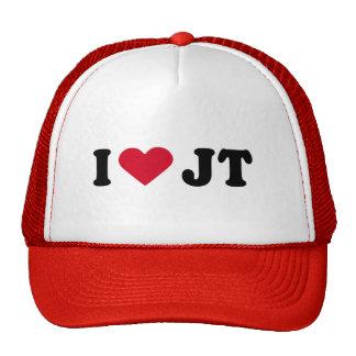I LOVE JT MESH HAT