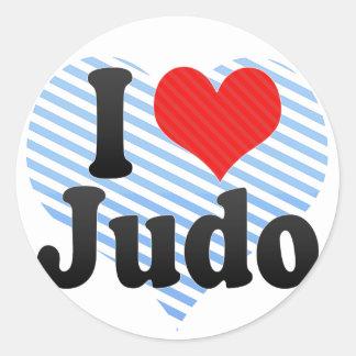 I Love Judo Round Sticker