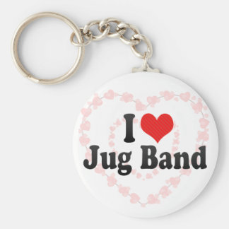 I Love Jug Band Key Chains