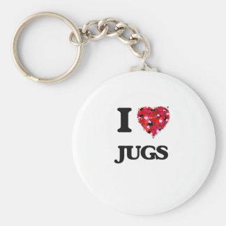 I Love Jugs Basic Round Button Key Ring