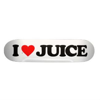 I LOVE JUICE 20 CM SKATEBOARD DECK