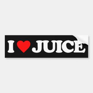 I LOVE JUICE BUMPER STICKER