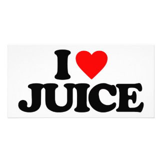 I LOVE JUICE PHOTO CARD TEMPLATE